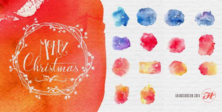 14-christmas-watercolor-textures
