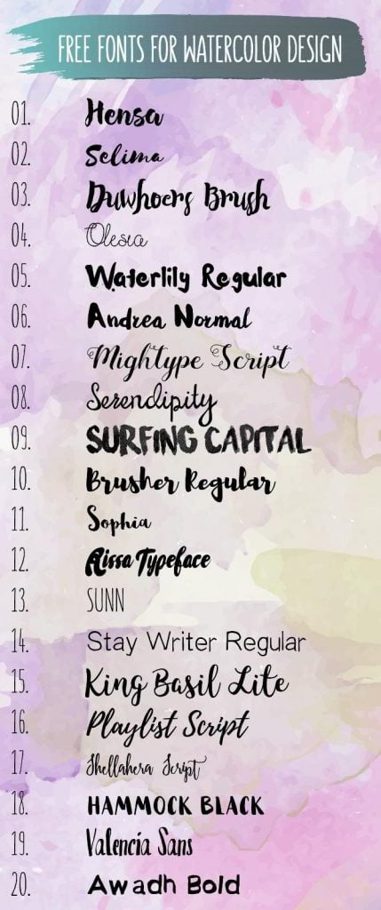 watercolor-fonts