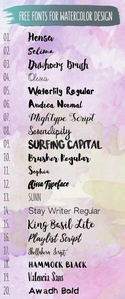 watercolor-fonts