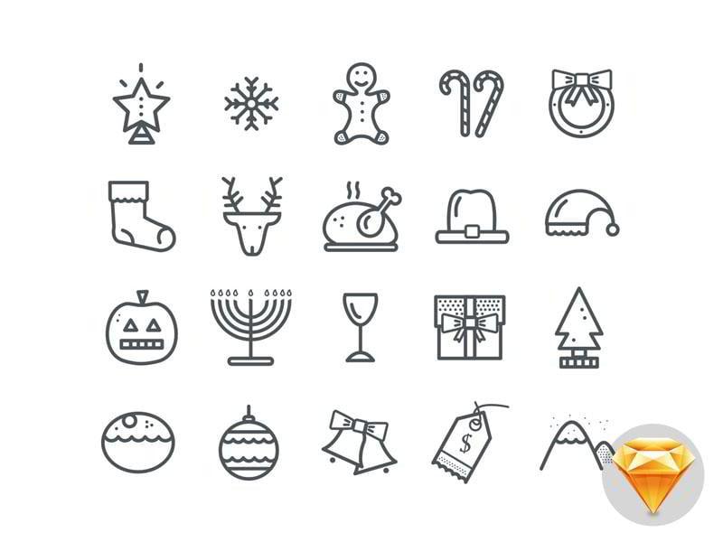 20-Christmas-Icons-.sketch-Freebie-by-Maximlian-Hennebach