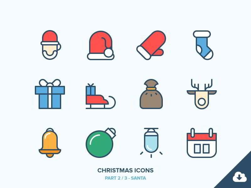 Christmas-Icons-Freebie-2-3-–-Santa-by-Benjamin-Bely