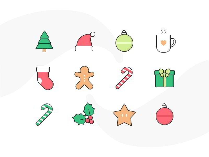 Christmas-icons-by-Cécile-L.-Parker