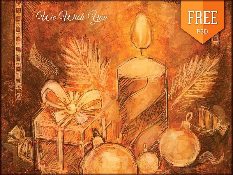 Free-Handmade-Retro-Christmas-Flyer-Vol.-2