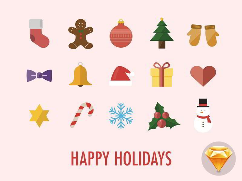 Happy-Holidays-Icons-by-Maximlian-Hennebach