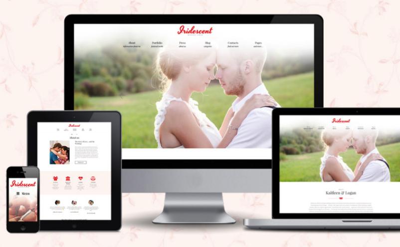 Tema Matrimonio Wordpress : Iridescent tema wordpress gratis para álbum de boda