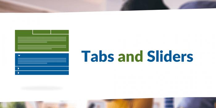 tabs and sliders