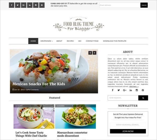 Blogger-Template-Food-Blog