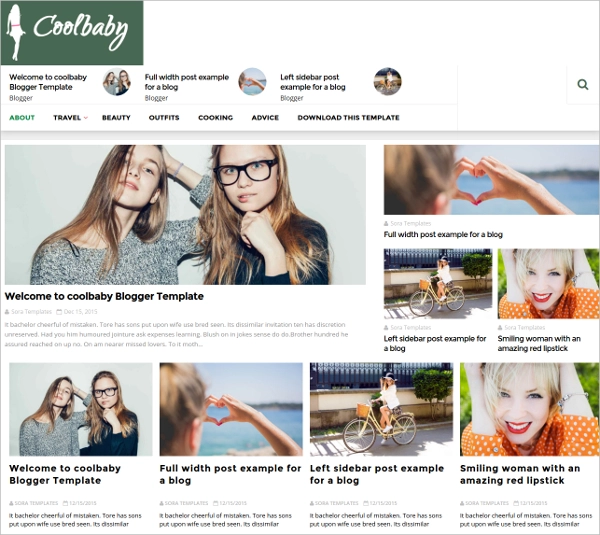 CoolBaby-Fashion-Blogger-Template