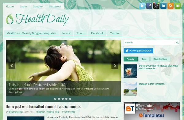 HealthDaily-Blogger-Template