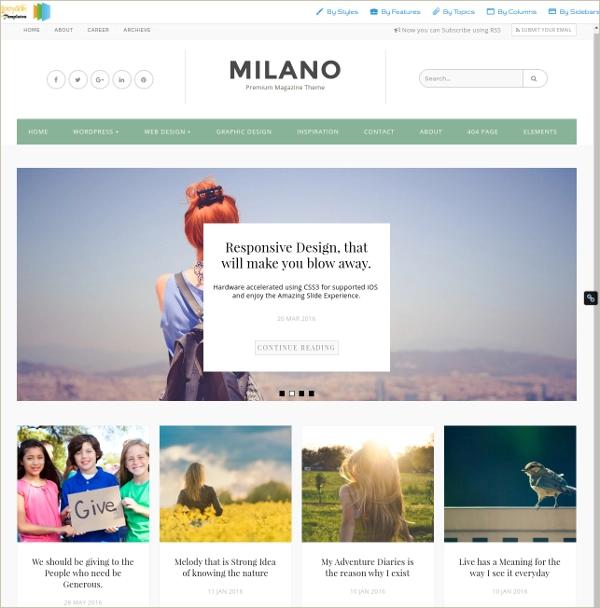 Milano-Blogger-Template