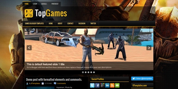 TopGames-Best-Free-Blogger-Template