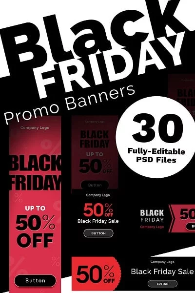 promo banners black friday