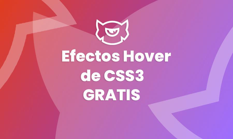 Efectos hover CSS3 gratis