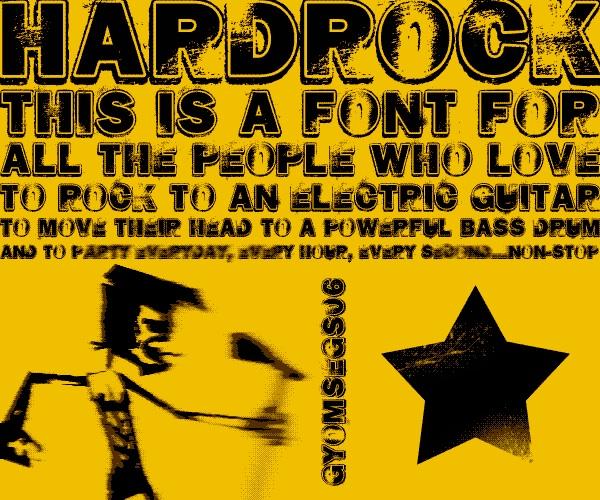 hard rock tipo de letra