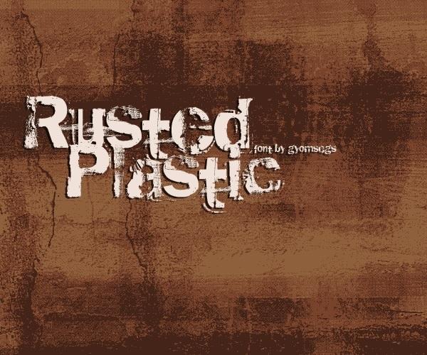 rusted plastic tipo de letra