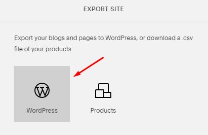exportar sitio