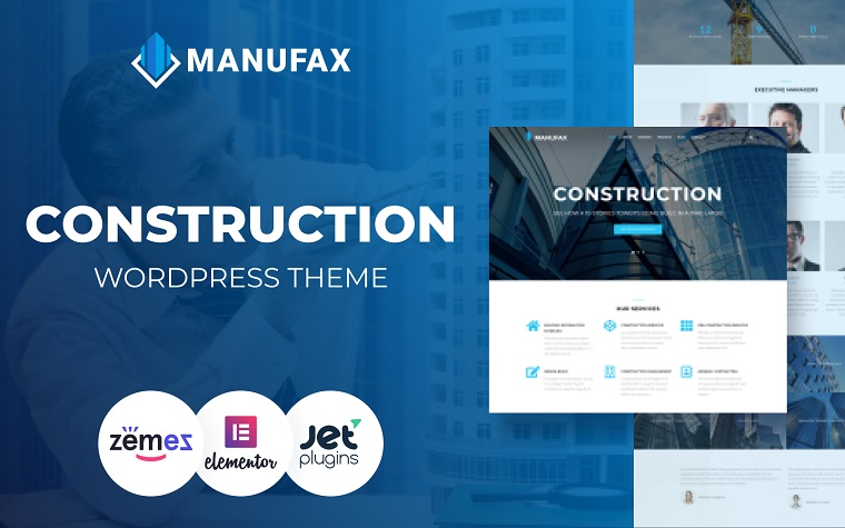 Manufax - Tema creativo multipropósito de WordPress Elementor.