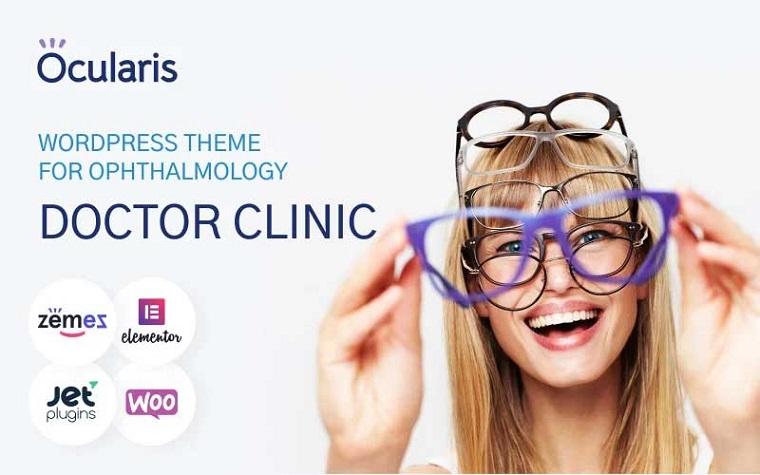 Ocularis - Tema de WordPress de Doctor Clinic para Oftalmología.