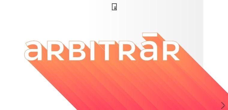 sitio web arbitraer