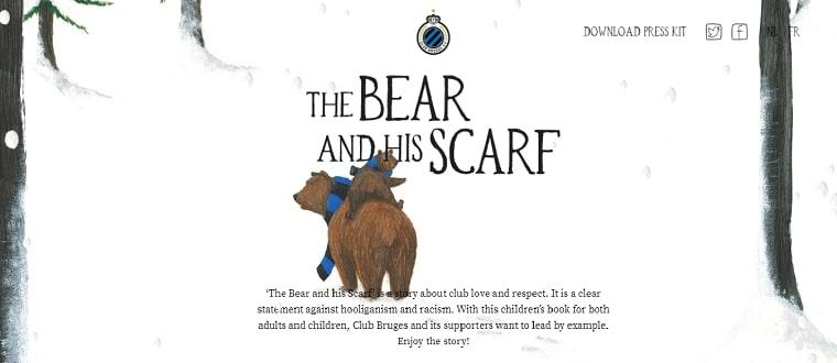 sitio web bear and scarf
