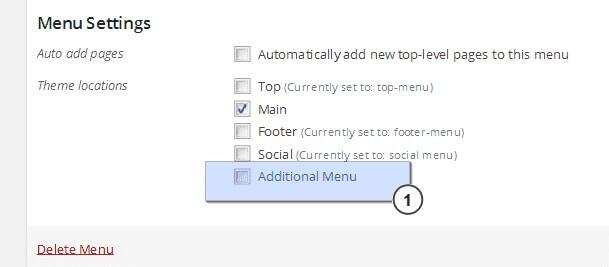 configuracion de menu adicional