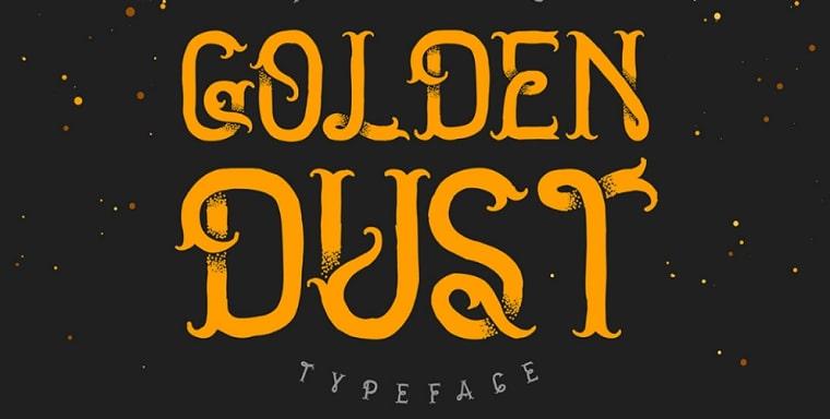 tipo de letra golden dust