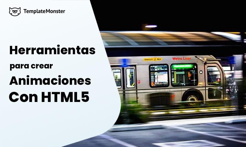 Herramientas para crear animacion HTML5