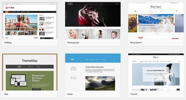 ejemplos de sitios en wordpress