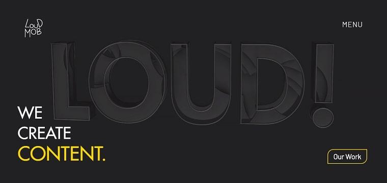 sitio web loud mob