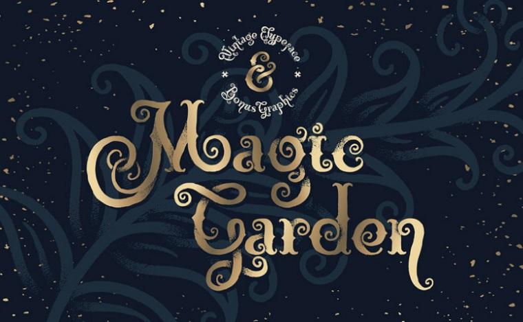 tipo de letra magic garden