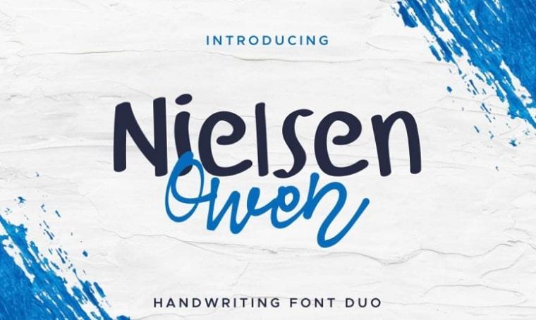 tipo de letra nielsen owen