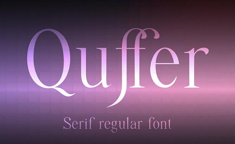 tipo de letra quffer