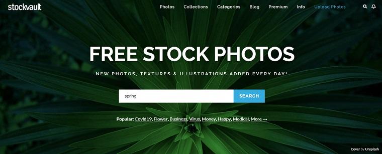 stockvault sitio web de fotos gratis