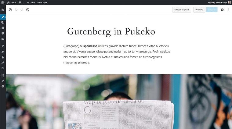 tema wp con gutenberg