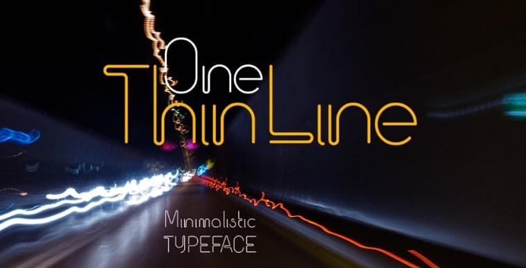 tipo de letra one thin line