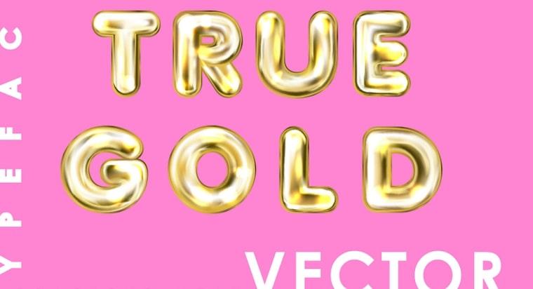 tipo de letra true gold
