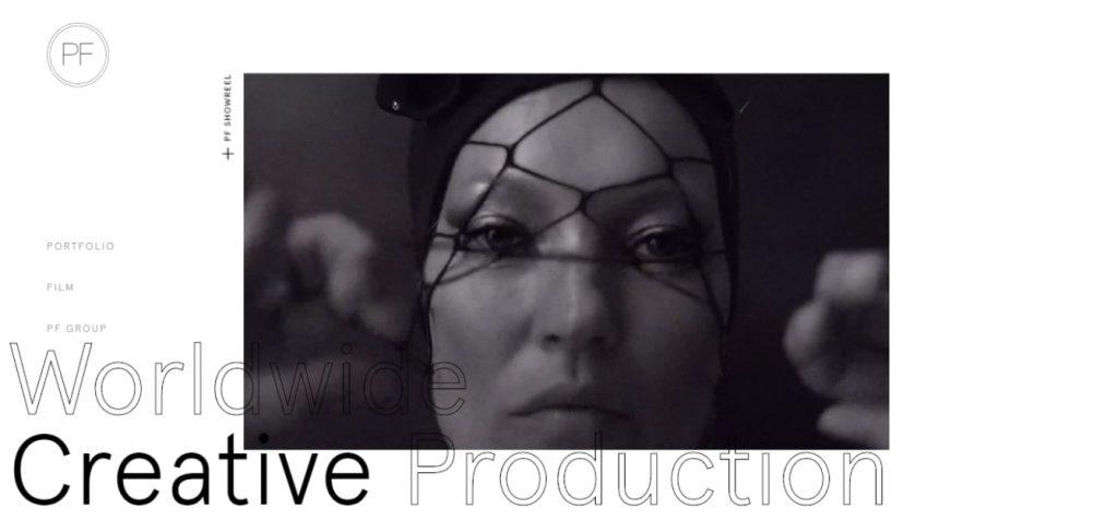 sitio web creative production