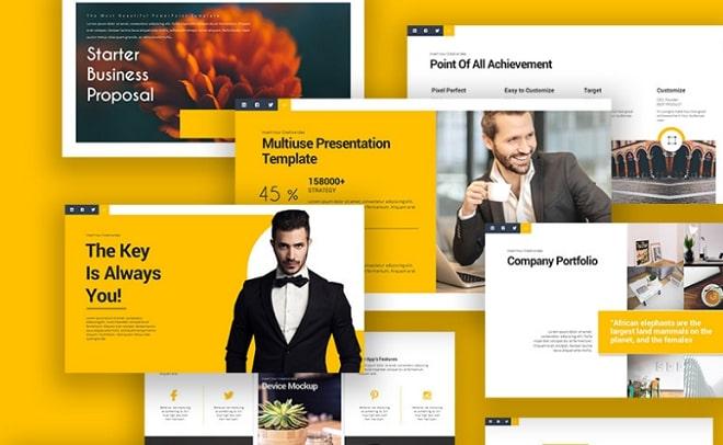 plantilla keynote business talk
