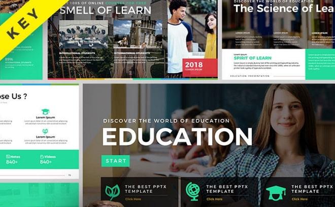 plantilla keynote education