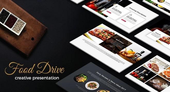 plantilla keynote food drive