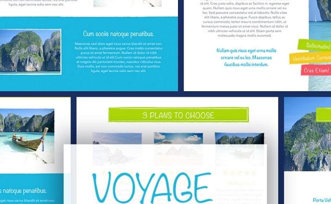 plantilla keynote voyage