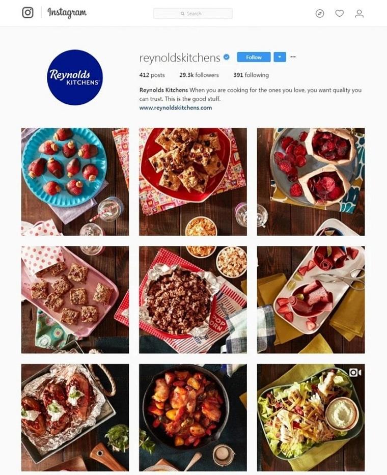 cuenta de instagram de reynoldskitchens