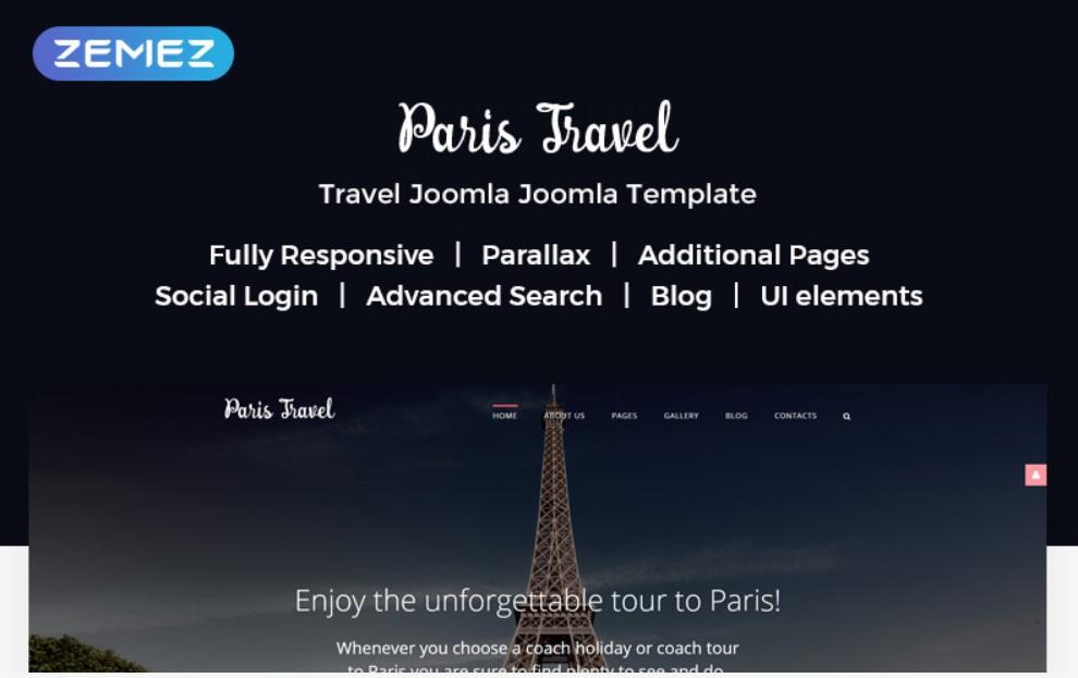Paris Travel Joomla