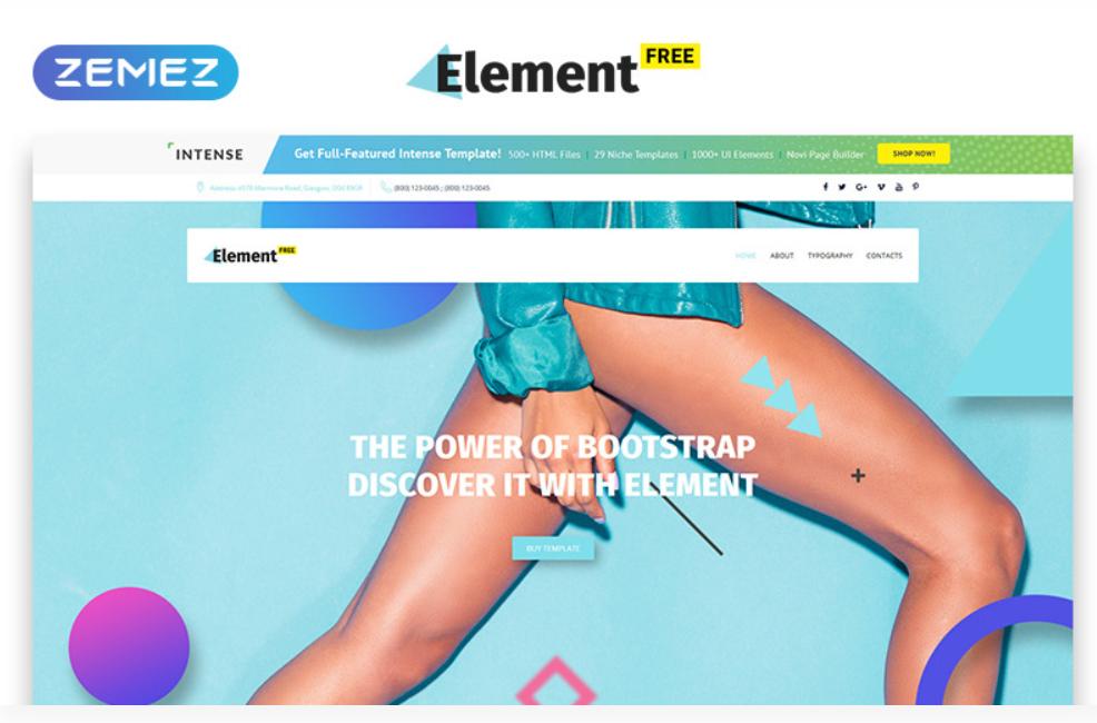 Element HTML5 gratuit