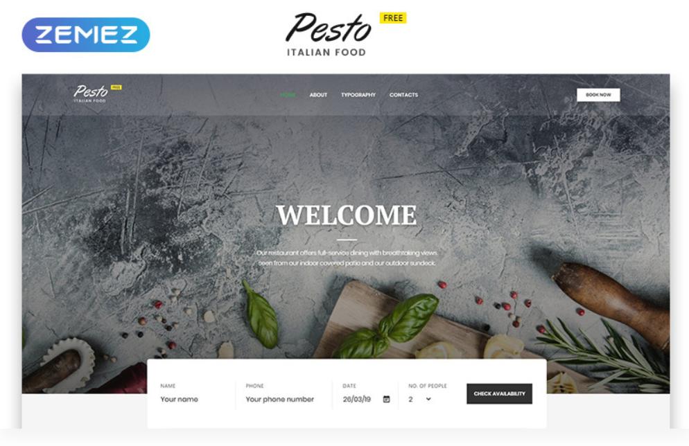 Pesto HTML5 gratuit