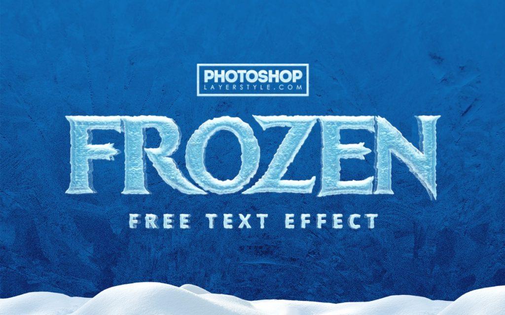 Frozen effet de texte en glace