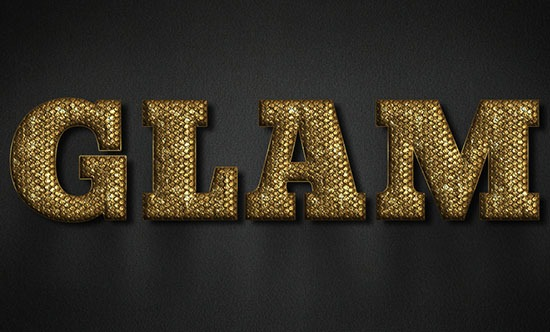 GlamGold text effect
