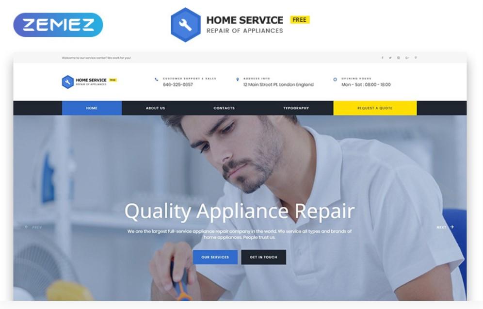 Home Service HTML5 gratuit