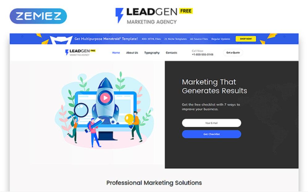 LeadGen HTML5 gratuit