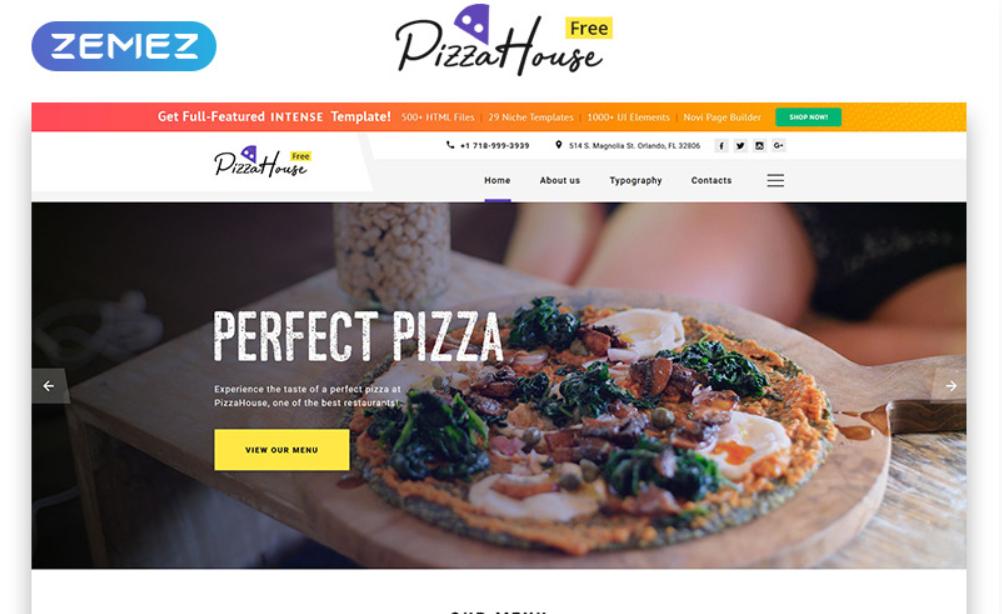 Pizza House HTML5 gratuit